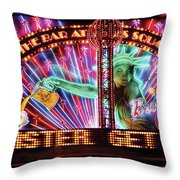City - Vegas - Ny - The Bar At Times Square Throw Pillow