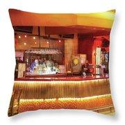 City - Vegas - Ny - The City Bar Throw Pillow