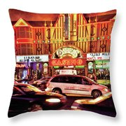 City - Vegas - O'sheas Casino Throw Pillow
