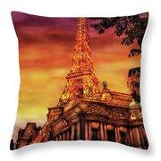 City - Vegas - Paris - The Paris Hotel Throw Pillow