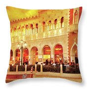 City - Vegas - Venetian - Life At The Palazzo Throw Pillow