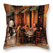 City - Venetian - Dining At The Palazzo Throw Pillow