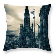 Edinburgh City Throw Pillow