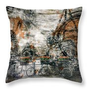 City-art Amsterdam Bicycles  Throw Pillow