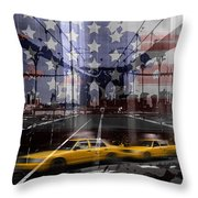City-art Nyc Composing Throw Pillow