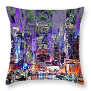 City Art Syncopation Cityscape Throw Pillow