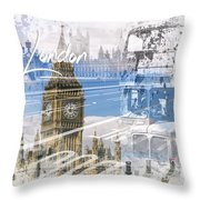 City Art Westminster Collage Throw Pillow