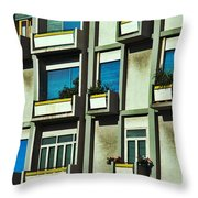 City Balconies Throw Pillow