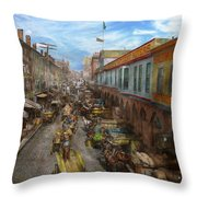 City - Baltimore Md - Traffic On Light Street - 1906 Throw Pillow
