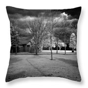 City Beach In Infrared Throw Pillow