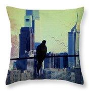 City Bird Throw Pillow