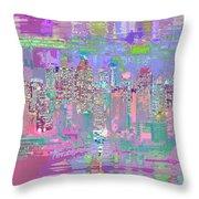 City Blox Light Throw Pillow