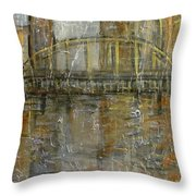 City Bridge Throw Pillow
