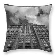 City Canyon Black And White Throw Pillow