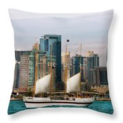 City - Chicago - Cruising In Chicago Throw Pillow