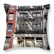 City Complex Throw Pillow