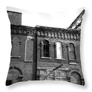 City Decay 1 Throw Pillow