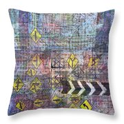 City Doodle 5 Throw Pillow