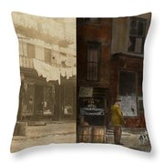 City - Elegant Apartments - 1912 - Side By Side Throw Pillow