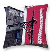 City Exoskeleton Throw Pillow