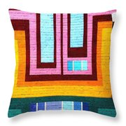 City Eyes Throw Pillow