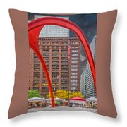City Flamingo Throw Pillow