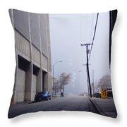 City Fog Throw Pillow