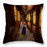 City - Germany - Alley - A Long Hard Life 1904 Throw Pillow
