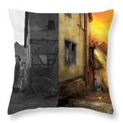 City - Germany - Alley - The Farmers Wife 1904 - Side By Side Throw Pillow