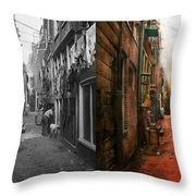 City - Germany - Alley - The Other Half 1904 - Side By Side Throw Pillow