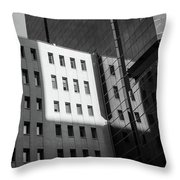 City Grid Throw Pillow