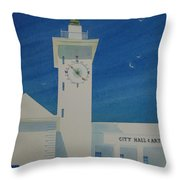 City Hall And Arts Building Bermuda  Throw Pillow