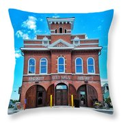 City Hall And Fire Department Throw Pillow