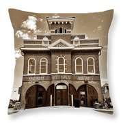 City Hall And Fire Department S Throw Pillow