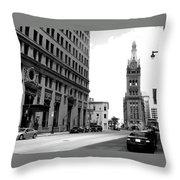 City Hall B-w Throw Pillow