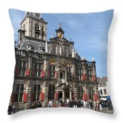 City Hall - Delft - Netherlands Throw Pillow