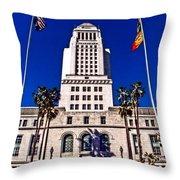 City Hall La Throw Pillow