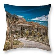 Newport Beach California City Hall Throw Pillow
