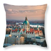 City Hall Of Hannover, Germany Throw Pillow