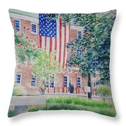 City Hall Old Town Alexandria Virginia Throw Pillow