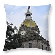 City Hall Savannah Throw Pillow