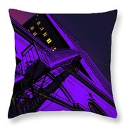 City Hall Stairs, In Indigo Throw Pillow