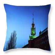 City Hall Tower Throw Pillow