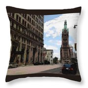 City Hall View From South Throw Pillow
