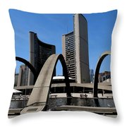 City Halll Arches Throw Pillow