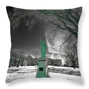 City High Statue Throw Pillow