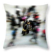 City In Movement Throw Pillow