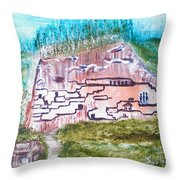 City In The Wall Throw Pillow