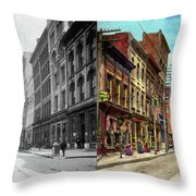 City - Knoxville Tn - Gay Street 1903 - Side By Side Throw Pillow