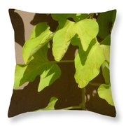 City Leaves Throw Pillow